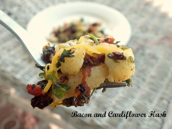 Bacon and Cauliflower hash
