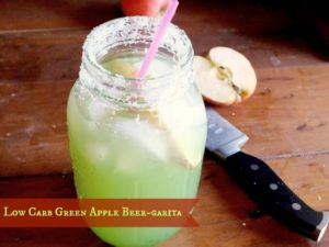 low carb green apple beergarita