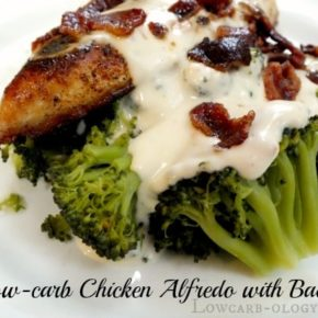 chicken and broccoli and alfredo