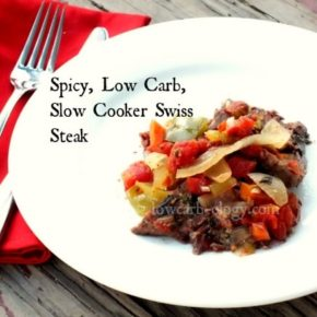 slow cooker swiss steak on a plate