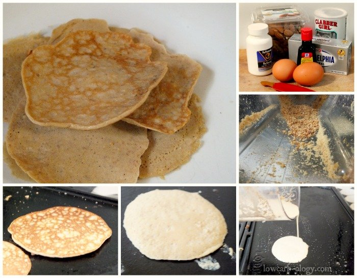low carb pancakes steps to make | lowcarb-ology.com