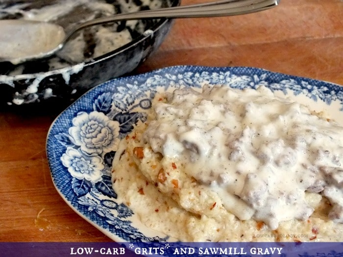 low-carb grits and gravy|lowcarb-ology.com
