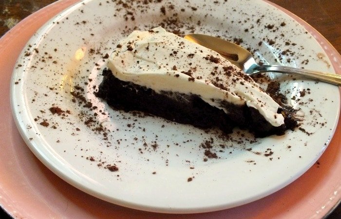 slice of reenc h silk pie with whipped cream|lowcarb-ology.com