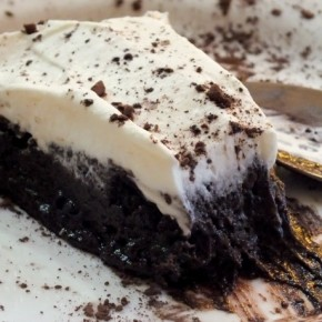 slice of french silk pie| lowcarb-ology.com
