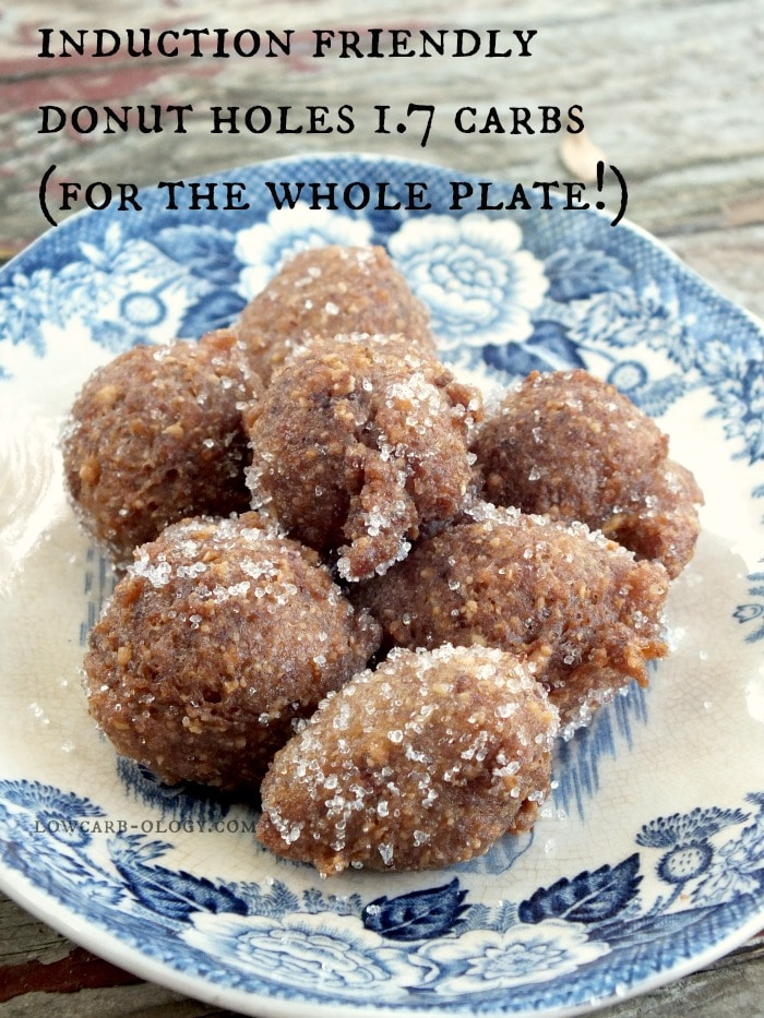 Easy, induction friendly, low carb donut holes|lowcarb-ology.com