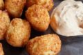 Low Carb Parmesan Tater Tots with Chipotle Dipping Sauce