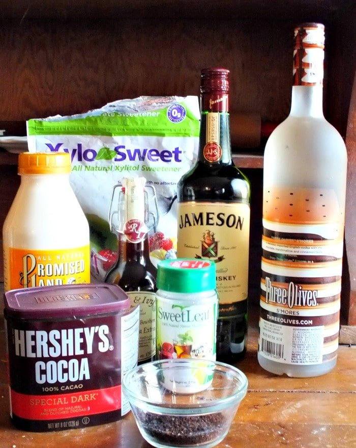 ingredients for lowcarb irish cream