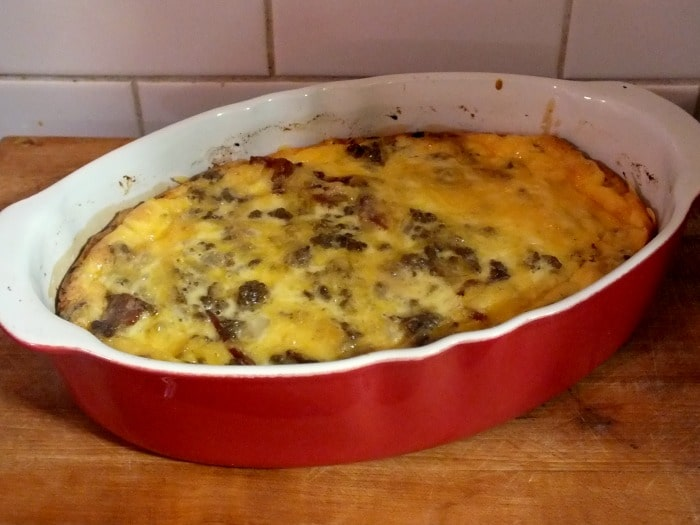 low carb cheeseburger casserole dish