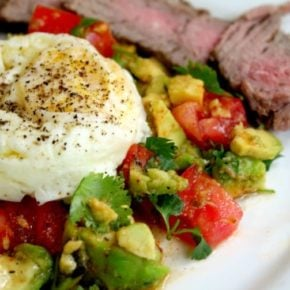 poached egg and guacamole