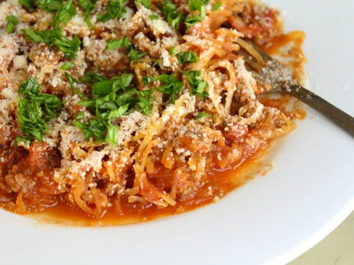Low carb bolognese sauce is wonderful on spagetti squash.