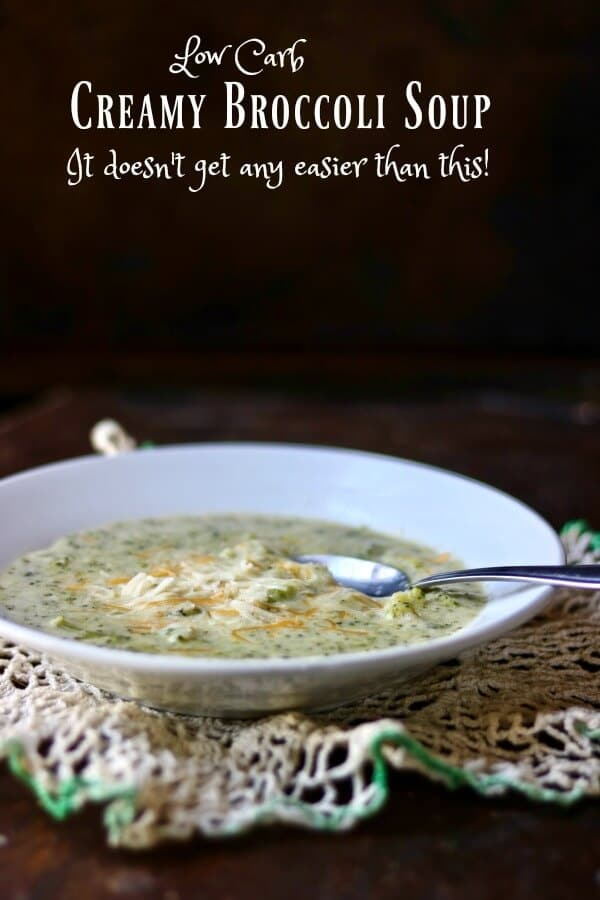 Easy, low carb cream of broccoli soup is the perfect meal for a chilly day. From Lowcarb-ology.com