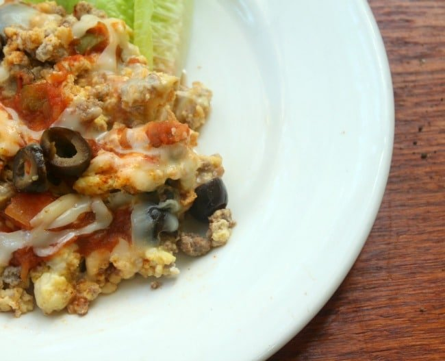 low carb migas with black olives cures cravings! onn lowcarbbology.com