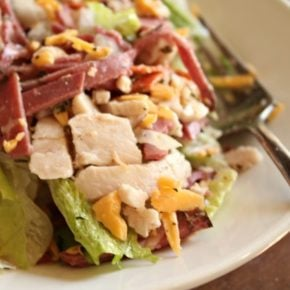 low carb italian main dish salad tastes like your favorite hoagie lowcab-ology.com