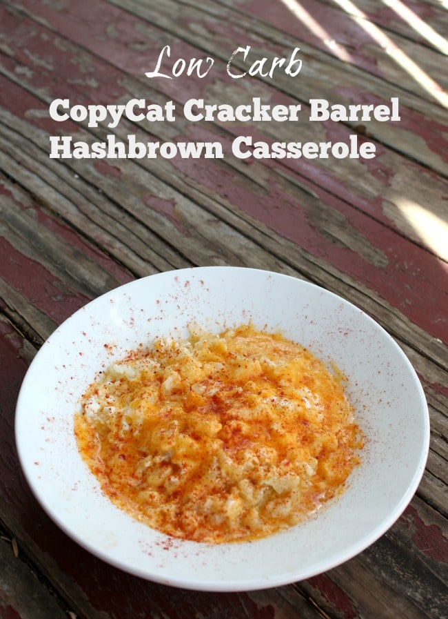 low carb copycat cracker barrel hashbrown casserole is easy and quick comfort food. Lowcarb-ology.com