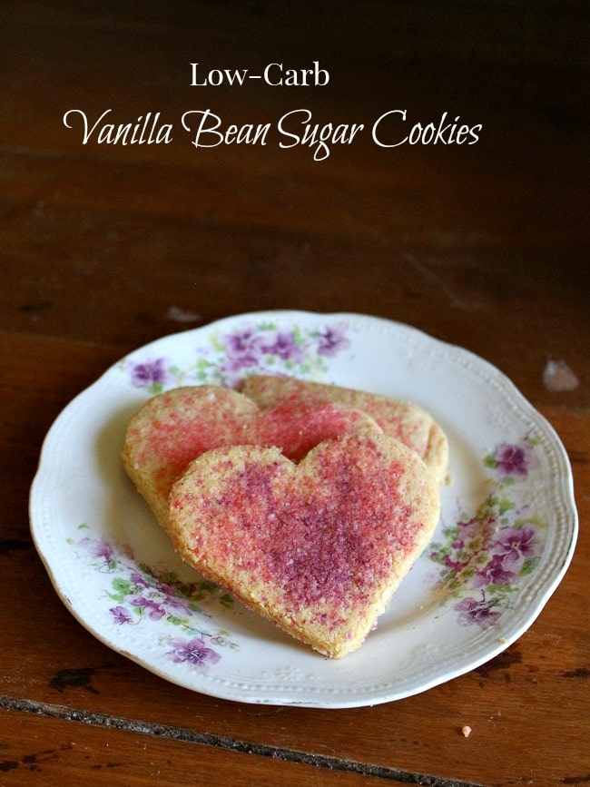 low-carb vanilla bean sugar cookies can be cut out and decorated but with less than 2 carbs each you can actually enjoy them anytime. Lowcarb-ology.com