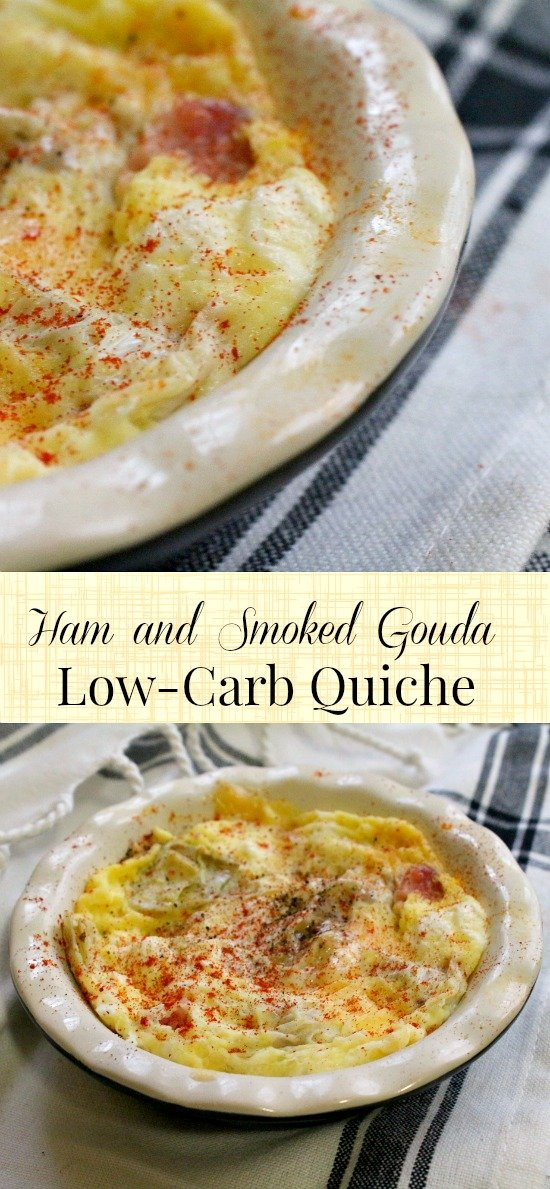 low-carb quiche with ham and smoked gouda  takes less than 3 minutes to make! Fine for induction! Lowcarb-ology.com