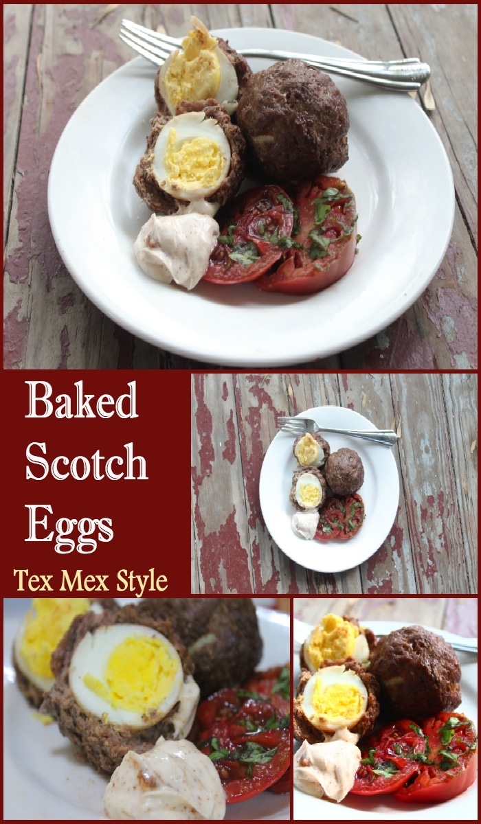Spicy, smoky baked scotch eggs are low-carb and so good! They're easy, too. Lowcarb-ology.com