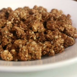 Cake batter granola works well as a low carb snack, too. From lowcarb-ology.com