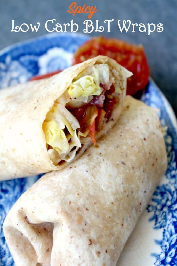 Spicy low carb BLT wraps make your favorite sandwich a low carb staple! from lowcarb-ology.com