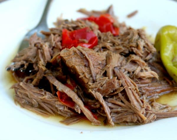 Slow cooked Italian pot roast is an easy low carb dinner the whole family will enjoy. lowcarb-ology.com