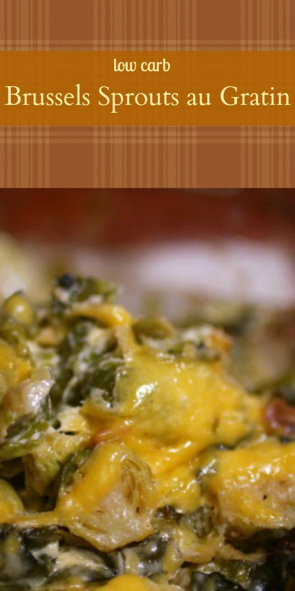 Low-Carb Brussels Sprouts AU Gratin That's Rich and Creamy With Just a Little Chipotle Kick. Big in Flavor and Low in Carbs. From Lowcarb-ology.com