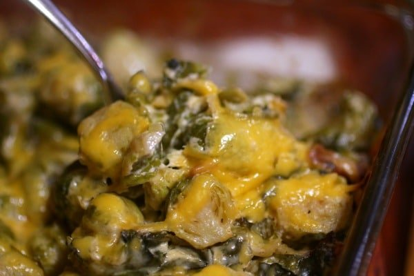 Brussels Sprouts au Gratin - lowcarb-ology
