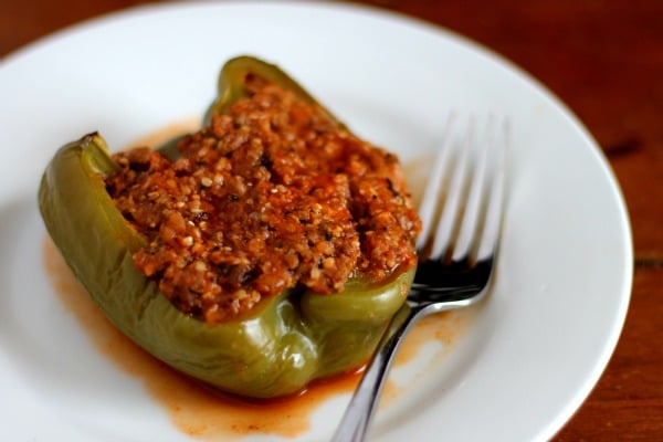 Old fashioned stuffed peppers are a low carb, easy, family friendly recipe. from Lowcarb-ology.com