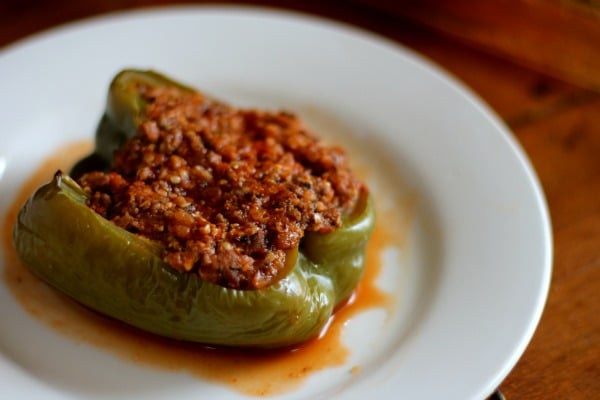 Low carb, old fashioned stuffed peppers are perfect comfort food anytime! From lowcarb-ology.com
