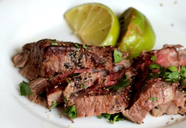 Make steak in a cast iron skillet for a crispy outside and a juicy inside. from lowcarb-ology.com