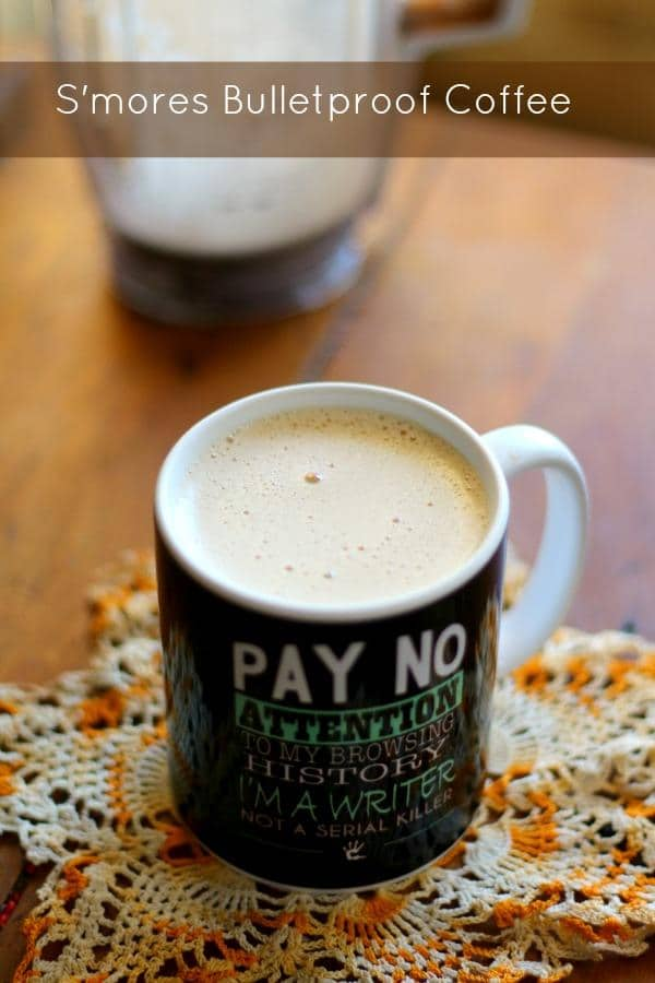 S'mores flavored bulletproof coffee is a great way to get those healthy fats. From Lowcarb-ology.com