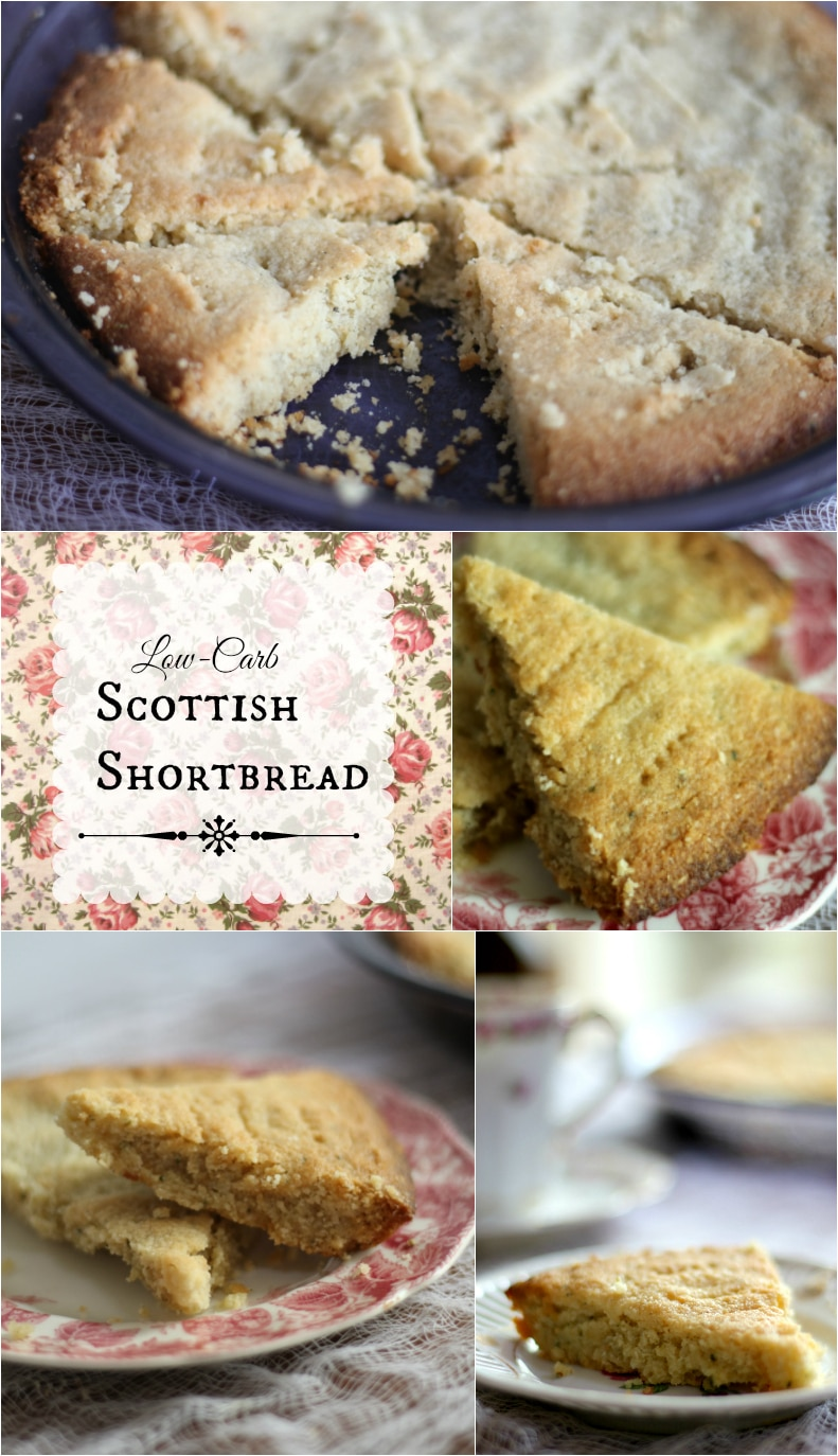 Low Carb Scottish Shortbread cookies are so easy to make and less than 2 net carbs per serving. Gluten free, too! From Lowcarb-ology.com