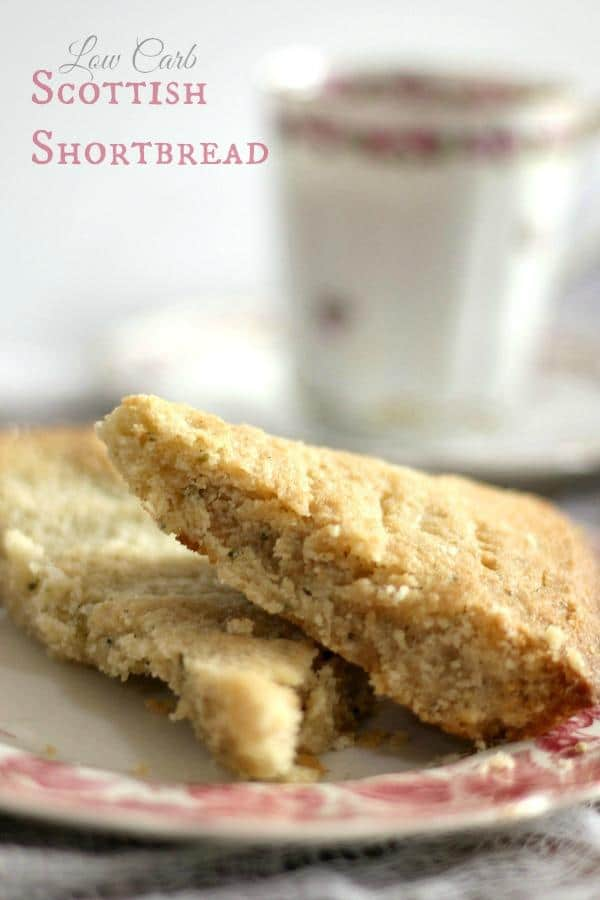 Low carb Scottish Shortbread cookies are gluten free, too! From Lowcarb-ology.com