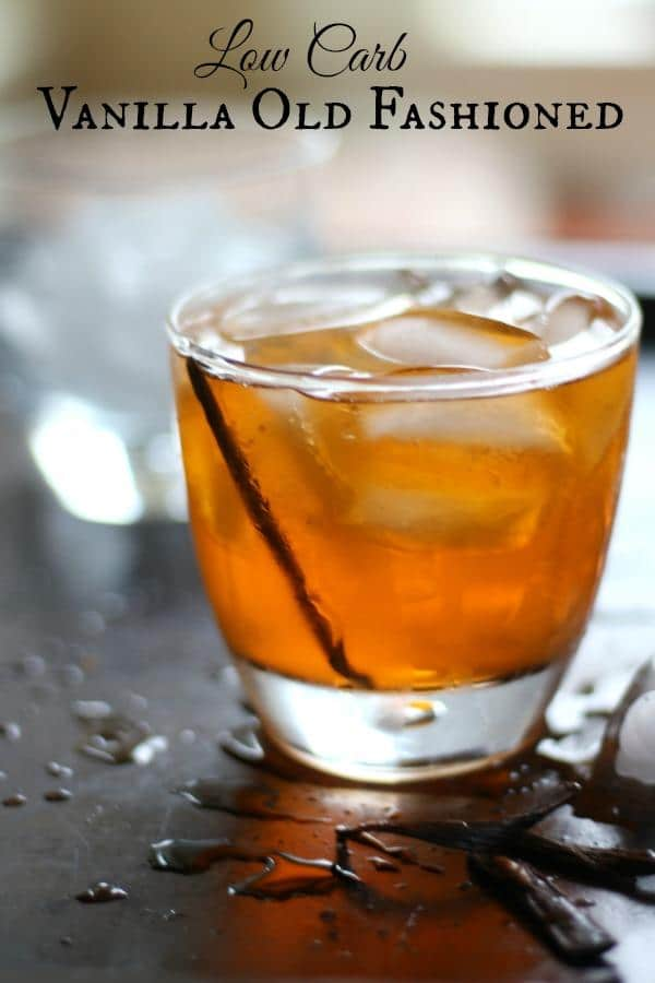 Vanilla Old Fashioned Cocktail Lowcarb Ology