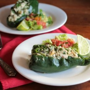 Low carb tuna stuffed poblano peppers go together quick and they are so good! From lowcarb-ology.com