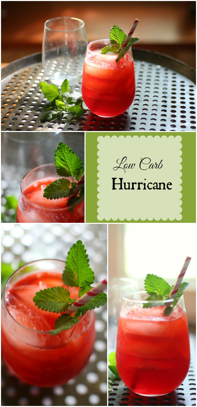 Low Carb Hurricane Cocktail with 2 kinds of rum? Yes Please! Perfect for summer! From lowcarb-ology.com