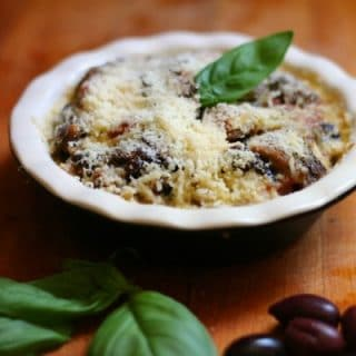 Low carb aubergine tart has 7.2 net carbs per serving. SO yummy! From lowcarb-ology.com