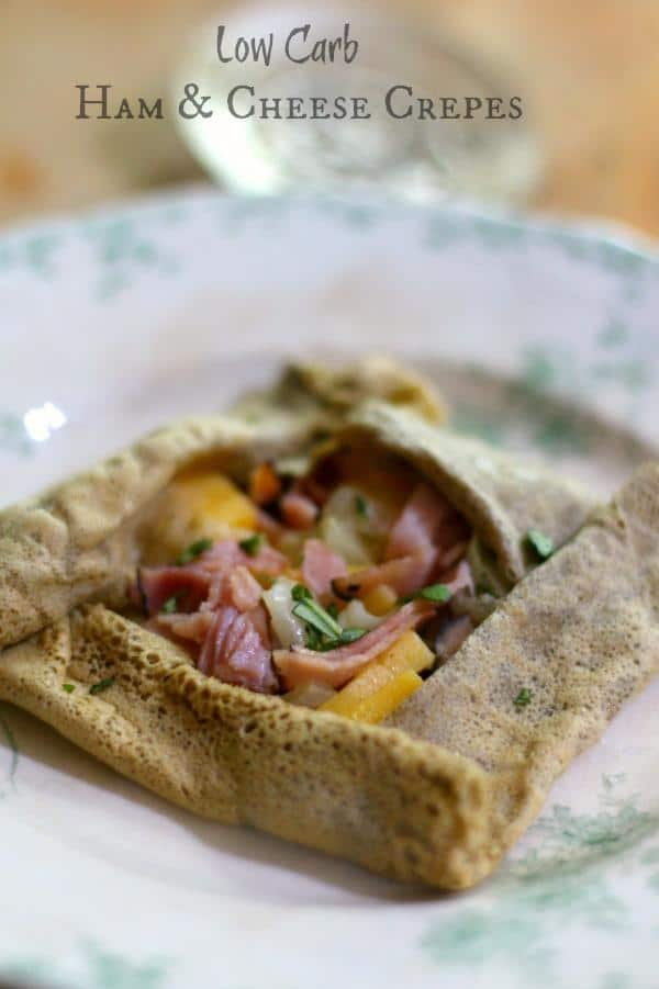 These low carb ham and cheese crepes are perfect for lunch or dinner. From Lowcarb-ology.com