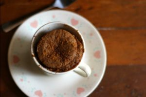 Quick and easy, this low carb spicy gingerbread mug cake is a sweet treat any time of the year. Lowcarb-ology.com