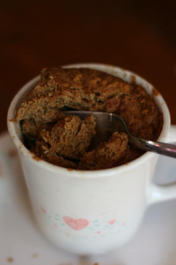 The texture of this low carb, spicy gingerbread mug cake is light and tender -- not at all dry. From lowcarb-ology.com