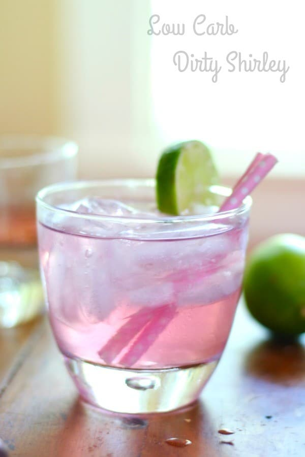 This low-carb Dirty Shirley is the adult version of your favorite childhood drink but without the carbs! From Lowcarb-ology.com