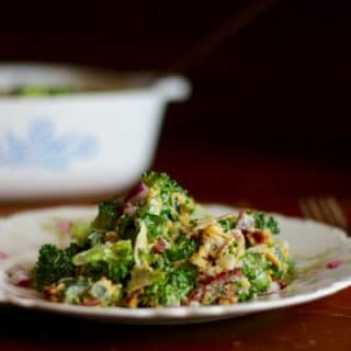 Low carb southwestern broccoli salad with just 5.7 carbs per serving. Perfect summer side dish with grilled meats! From lowcarb-ology.com