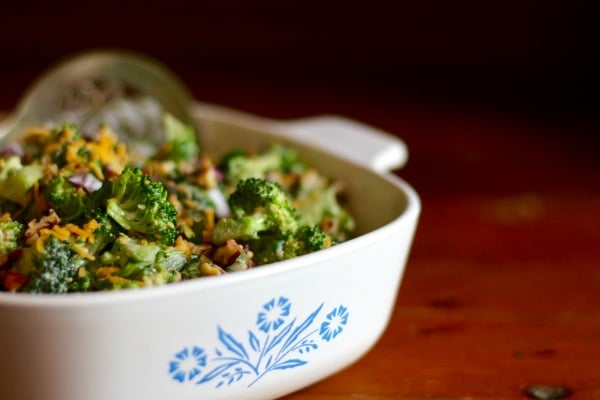With 5.7 carbs this southwestern broccoli salad is the perfect side for any grilled meat. from lowcarb-ology.com