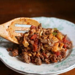 This low carb American goulash is an old fashioned favorite made low carb. Just over 4 net carbs per serving. From Lowcarb-ology.com