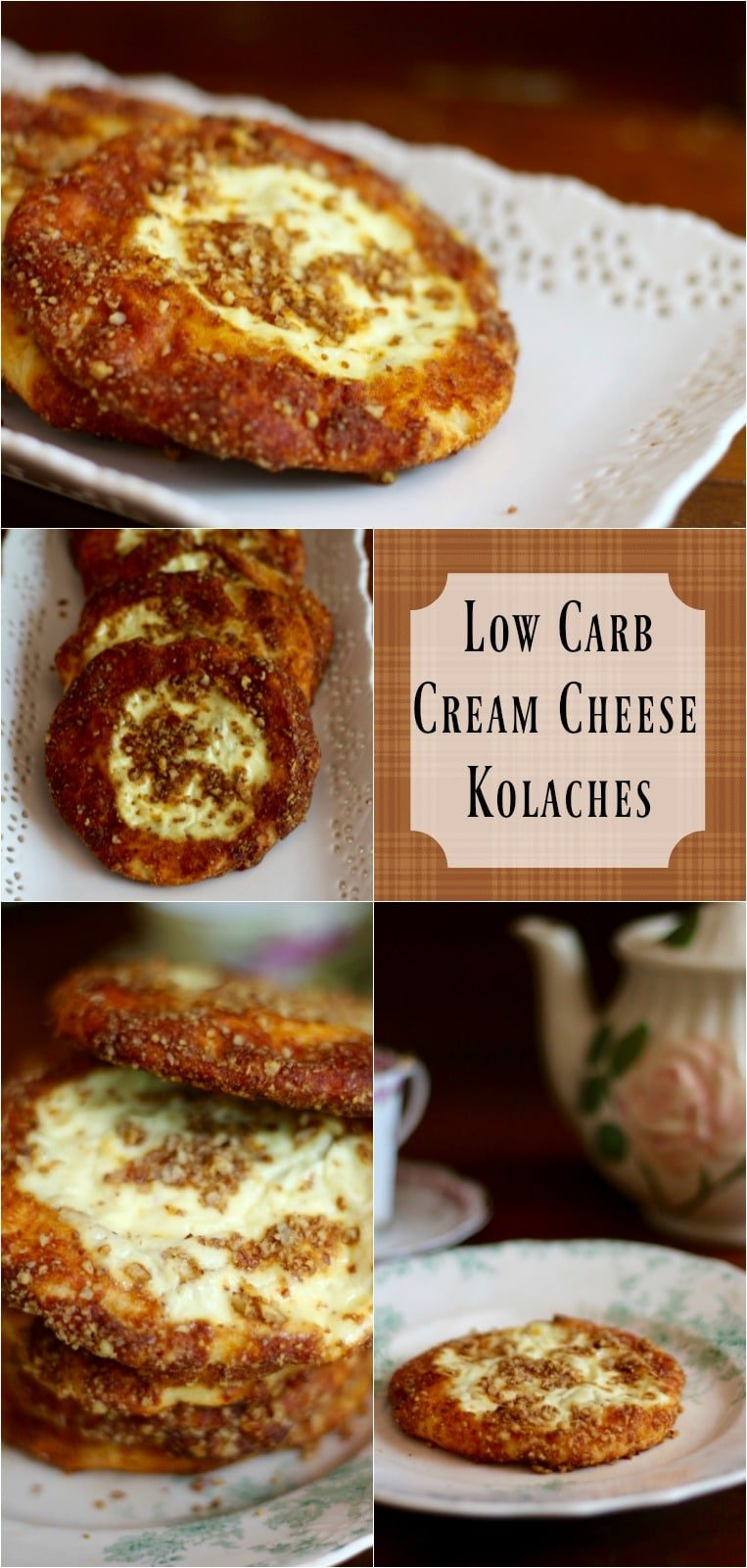 Low carb cream cheese kolaches have just 2.8 net carbs and they are gluten free! From Lowcarb-ology.com