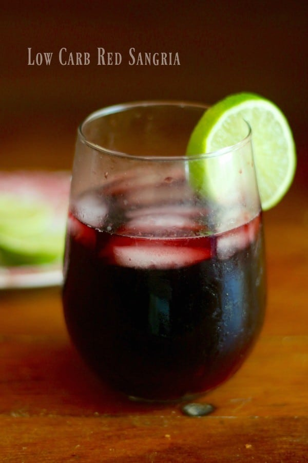 Low carb red sangria recipe has just 3 carbs for 8 ounces. So fruity and yummy! From lowcarb-ology.com