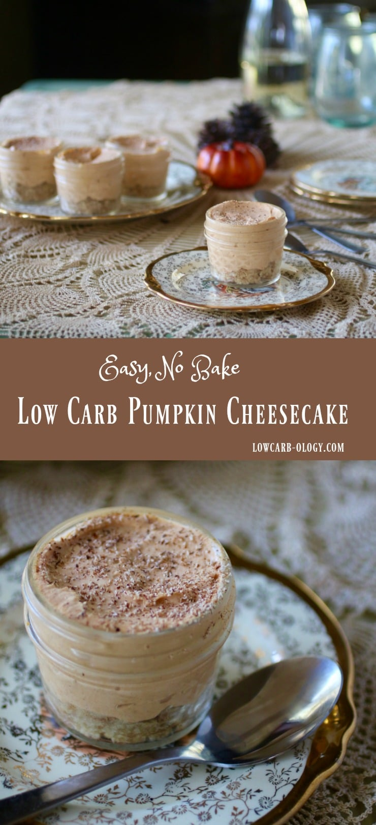 Easy, low carb, no bake pumpkin cheesecake goes together in minutes. Flavored with autumn spices like cloves, ginger, and cinnamon, pumpkin, and rum . From Lowcarb-ology.com