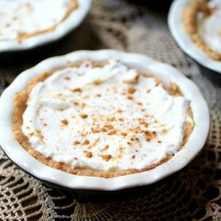 Low carb sour cream lemon pie is an indulgent dessert. From RestlessChipotle.com