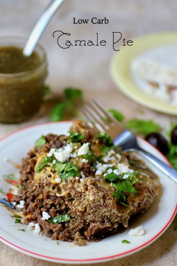This easy tamale pie has just 4.5 net carbs. Craving Mexican food? Try this! From Lowcarb-ology.com