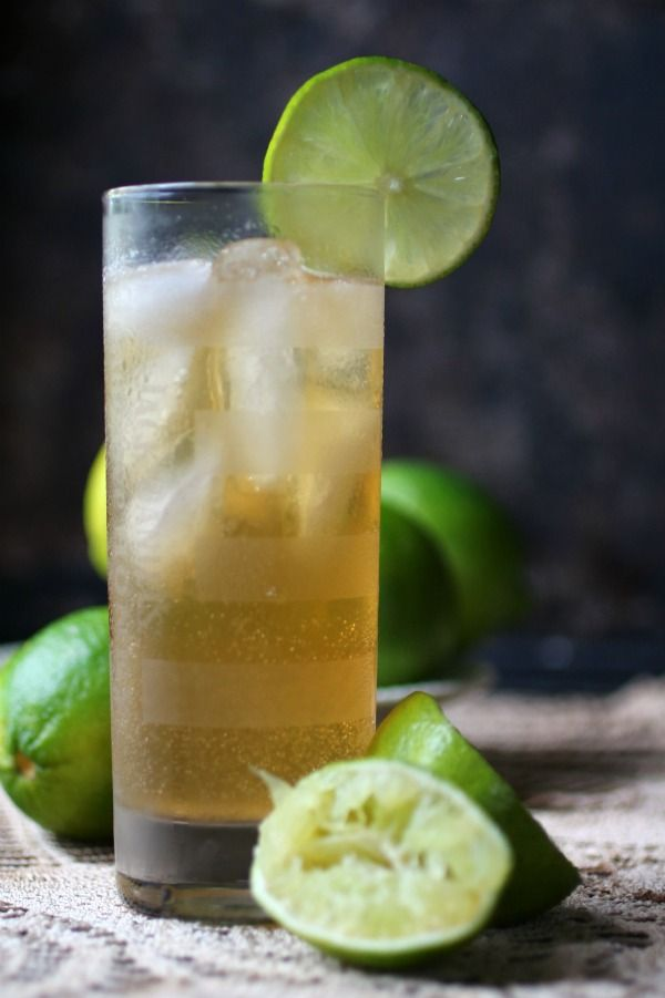 Dark and Stormy cocktail is easy and SO good. From Lowcarb-ology.com