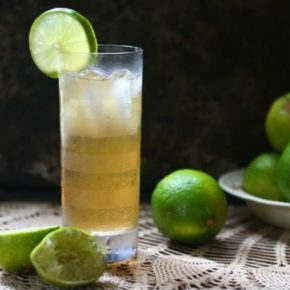 Dark and stormy cocktail is so easy! Ginger and rum flavors. From Lowcarb-ology.com